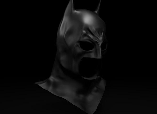 fantasy batman cowl 3D model