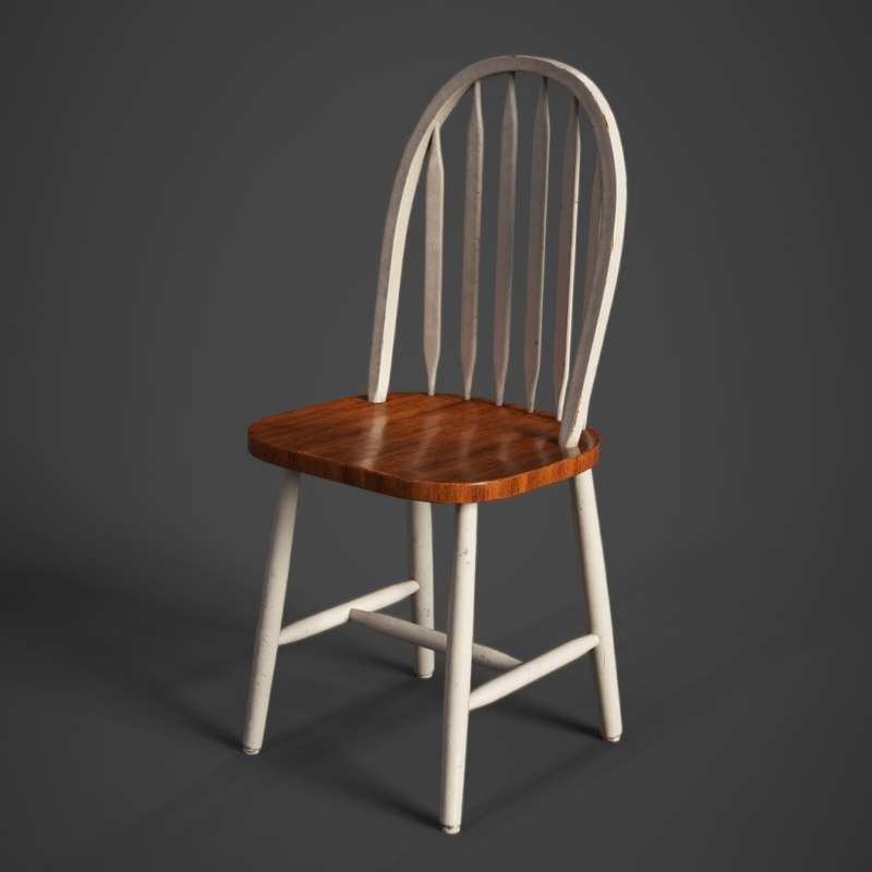 3D polished chair