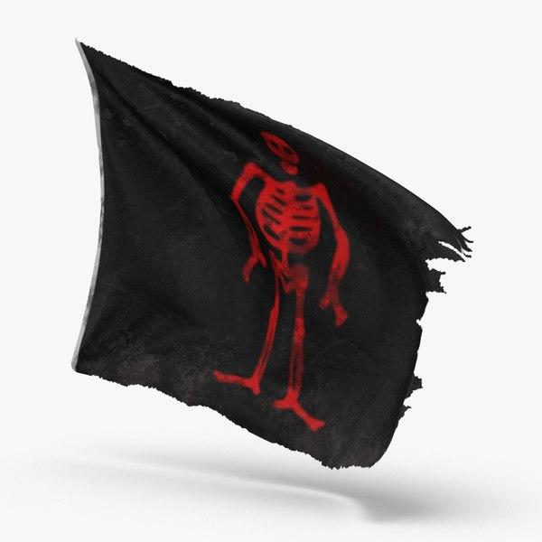 pirate-flag-03---v3 3D model