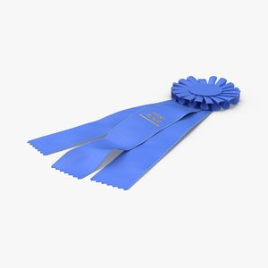 prize-ribbon-blue 3D