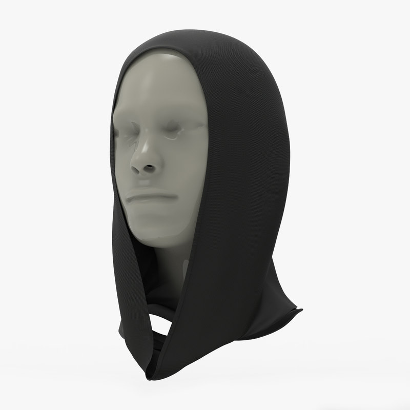 scarf head 3D model