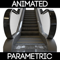 3D model parametric escalator