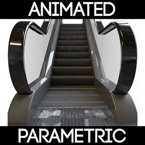 3D model parametric escalator