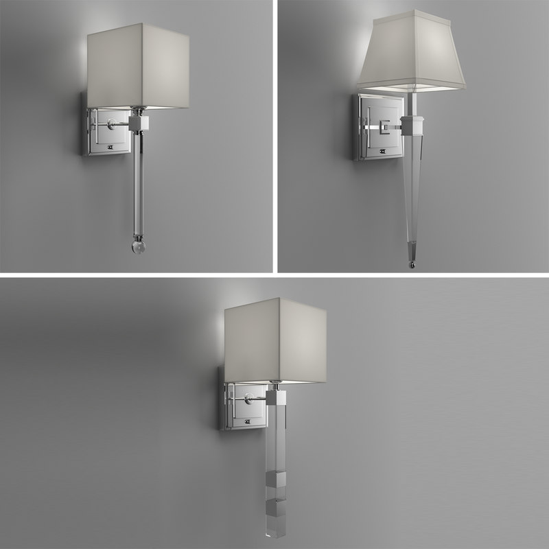 sconces lights set 3D model