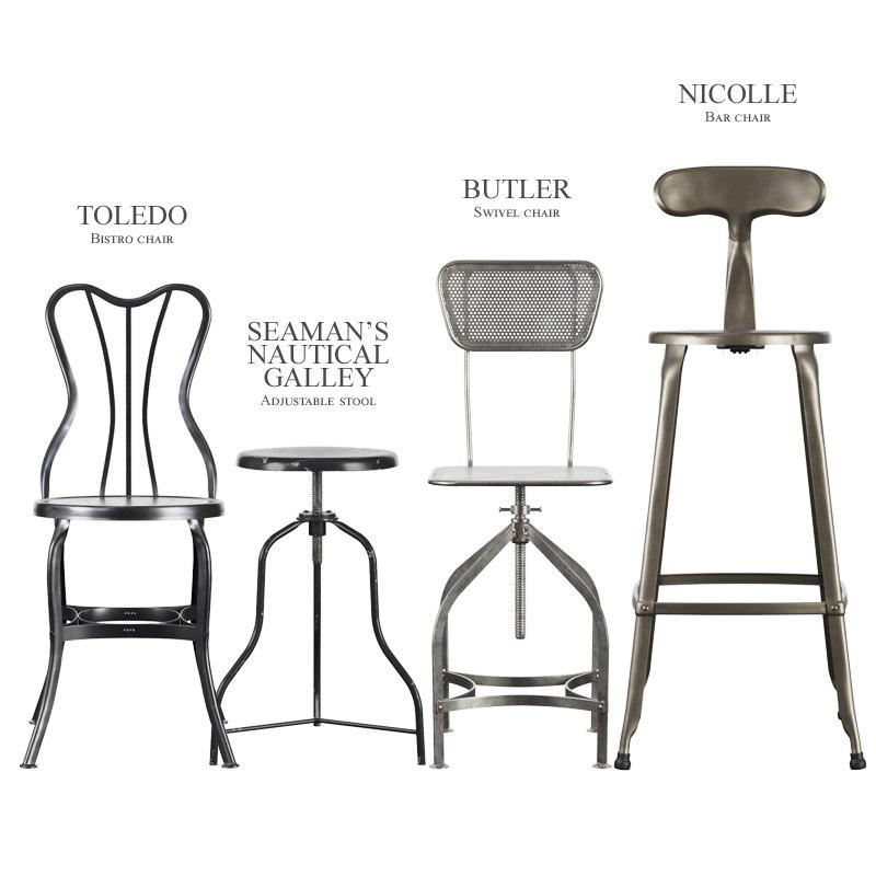 3d Vintage Industrial Stools Chair Turbosquid 1217396