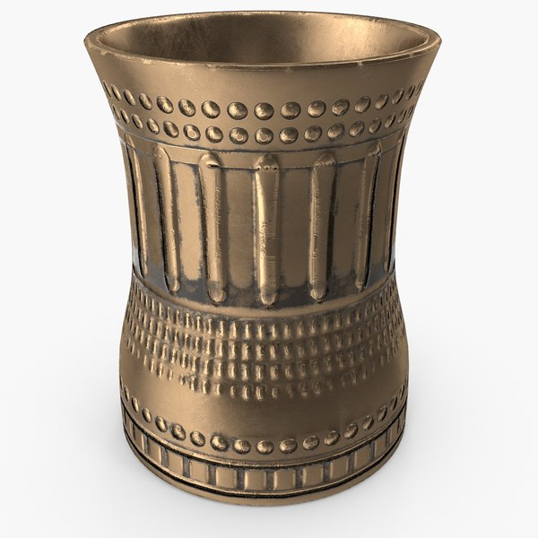 3D ready bronze cup