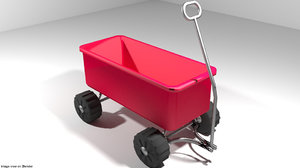 garden wagon 3D model
