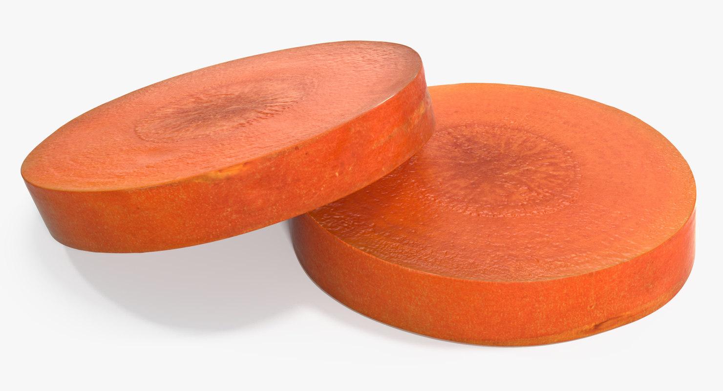3D carrot slice model