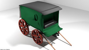 delivery wagon 3D model