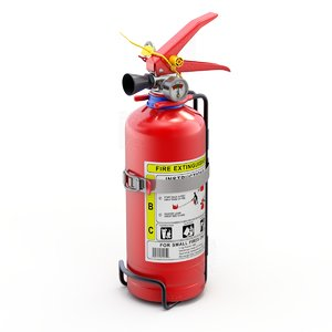 3D car extinguisher model