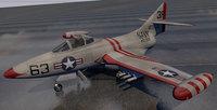 plane grumman f9f-2 panther 3D