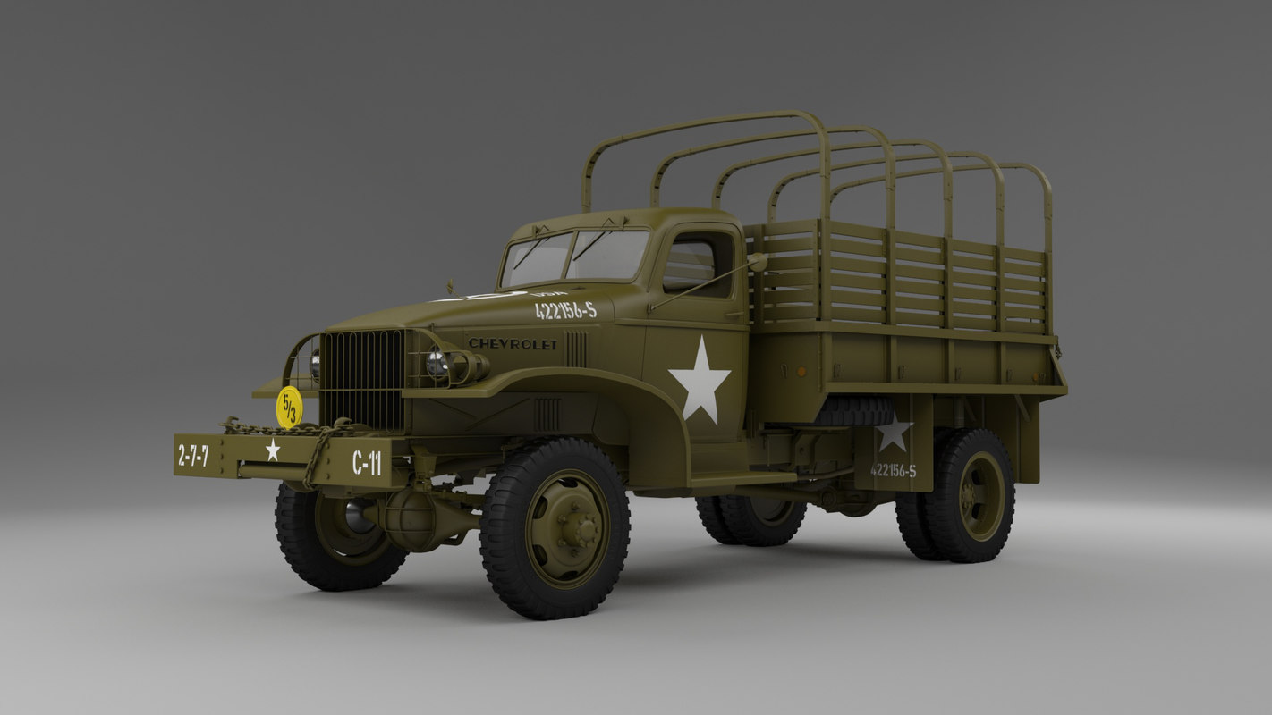 army wwii chevrolet 1 3D model