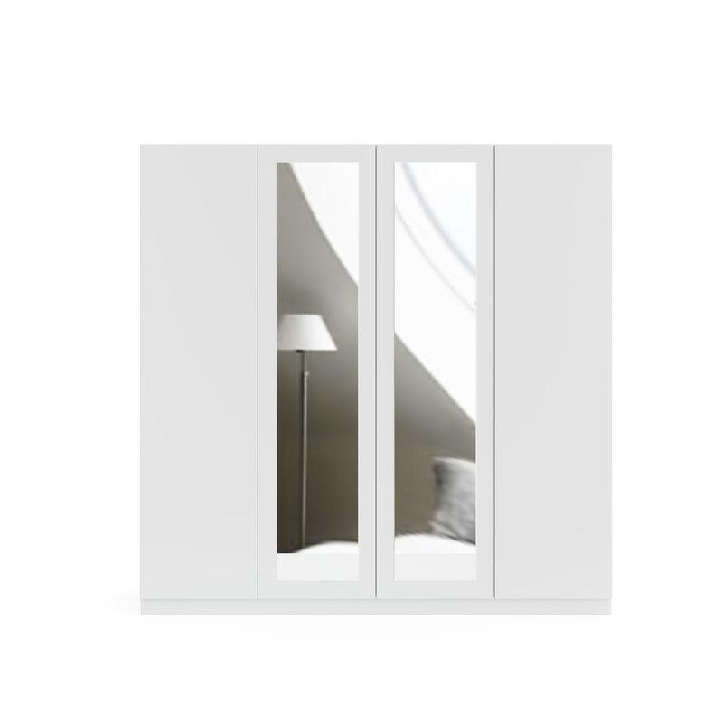 3D model door white wardrobe mirror