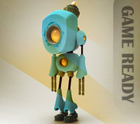 ready little robot 3D model