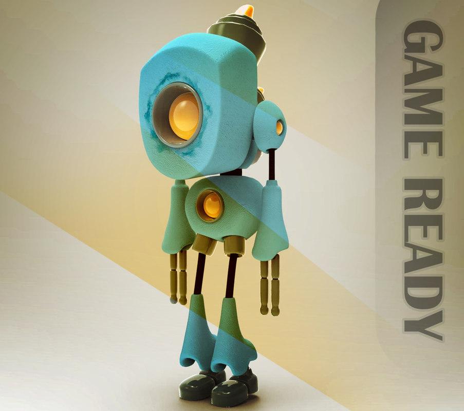 ready little robot 3D model