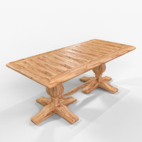 table wood 3D