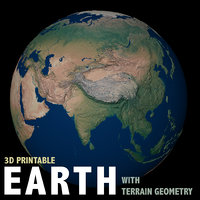 Earth with terrain geometry