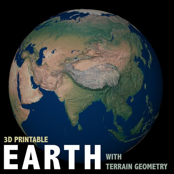 earth terrain geometry 3D model