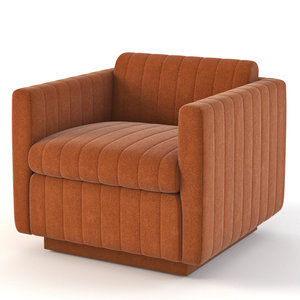 milo baughman lounge 3D model