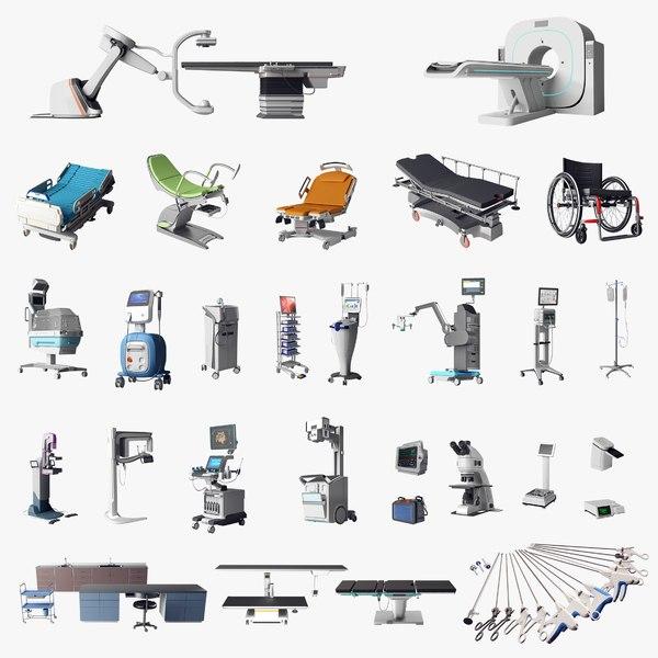 realistic modern medical equipment 3D model