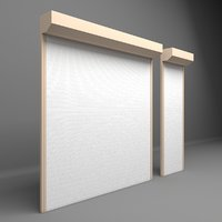 3D electrically shutter garages door