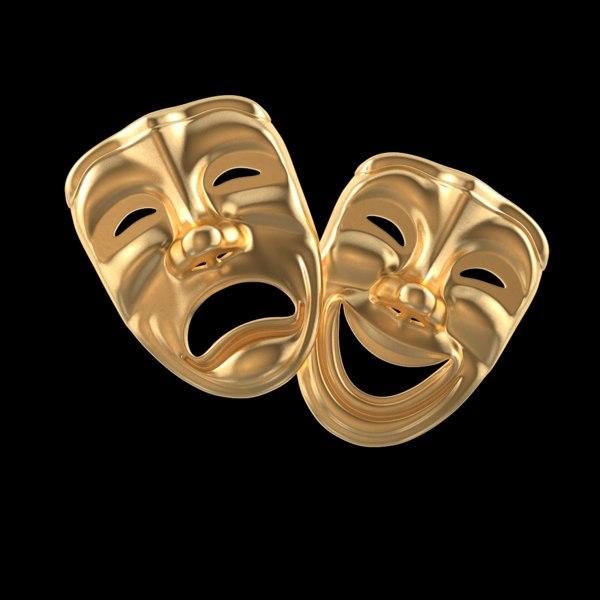 theater masks 3D model
