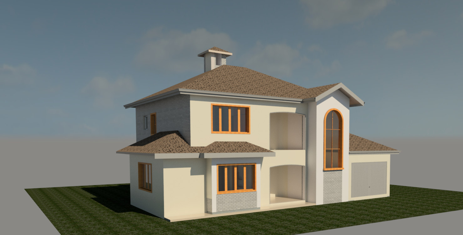 3D model rvt small residential
