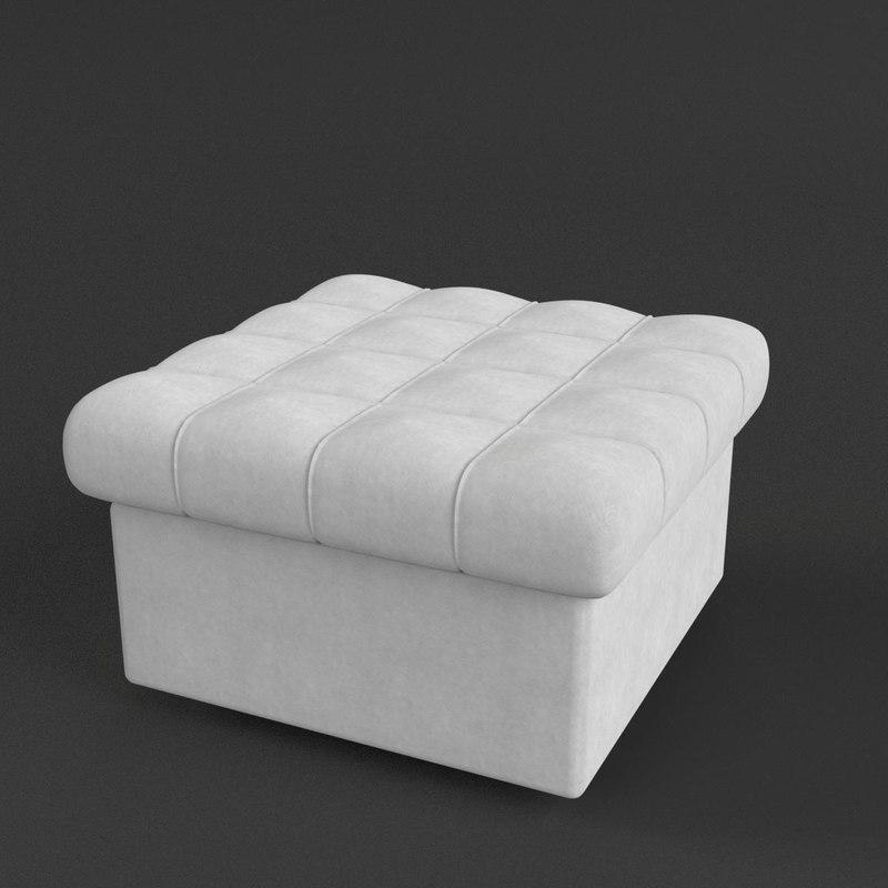 pouf sofa couch 3D