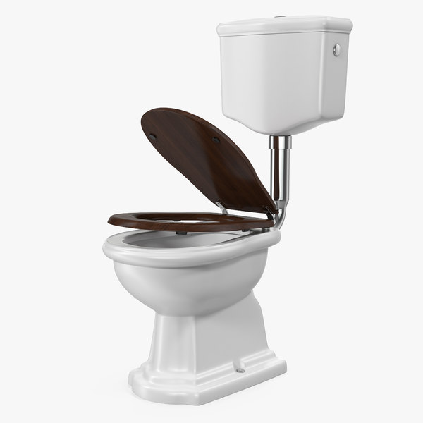 old style level toilet 3D model