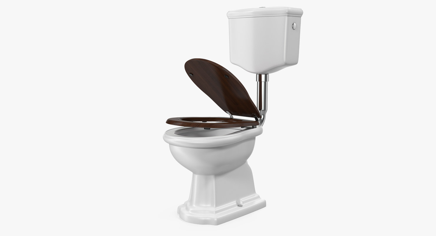 Old style level toilet 3d model turbosquid 1217539