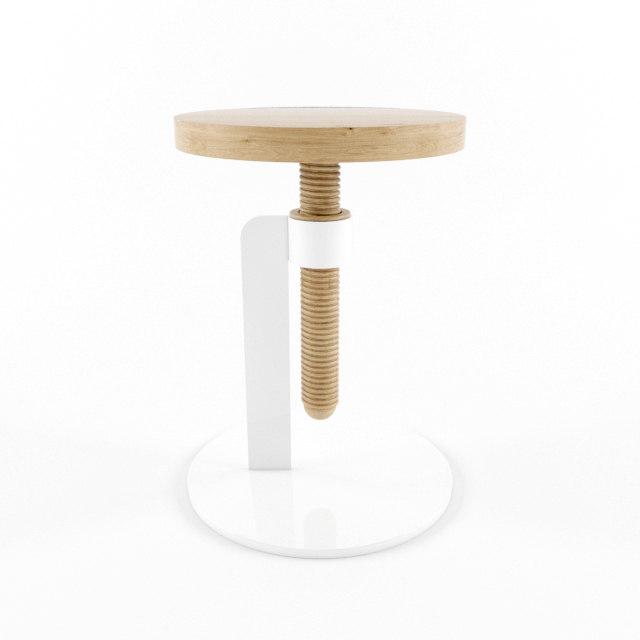 3D carlo avvitamenti stool model