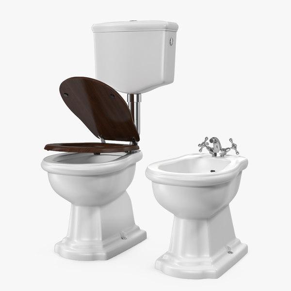 old style level toilet model