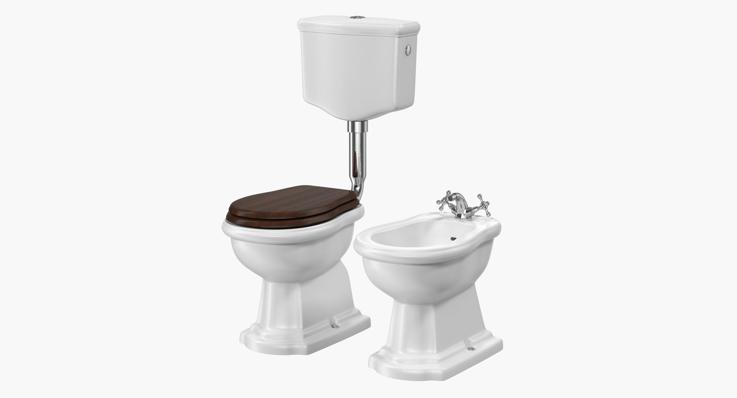 Old Style Level Toilet Model Turbosquid 1217541