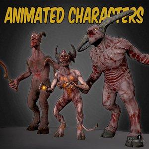 pack demon animation 3D model