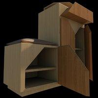 shoe cupboard 3D model