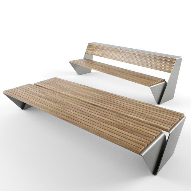 3D modern design outdoor bench
