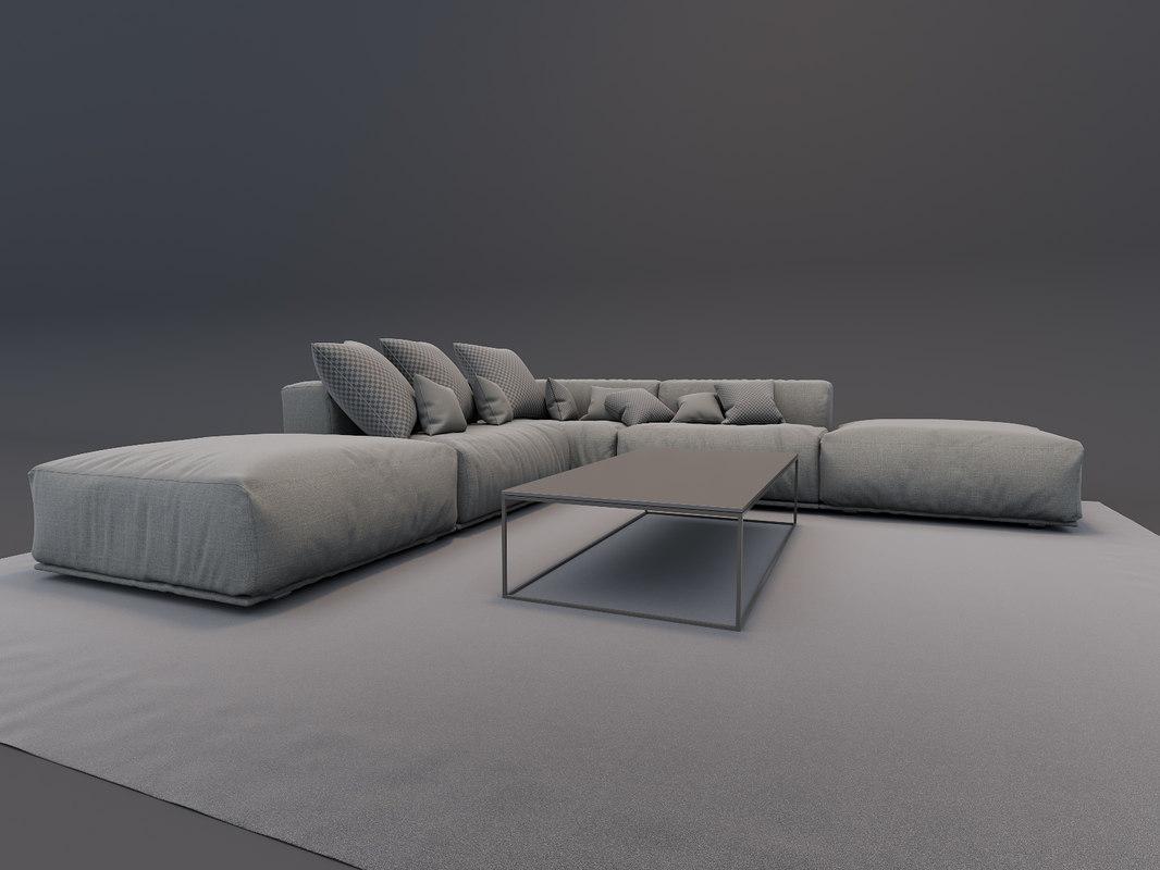 3D model poliform table bolton