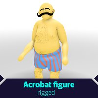 Rigged Fat Acrobat