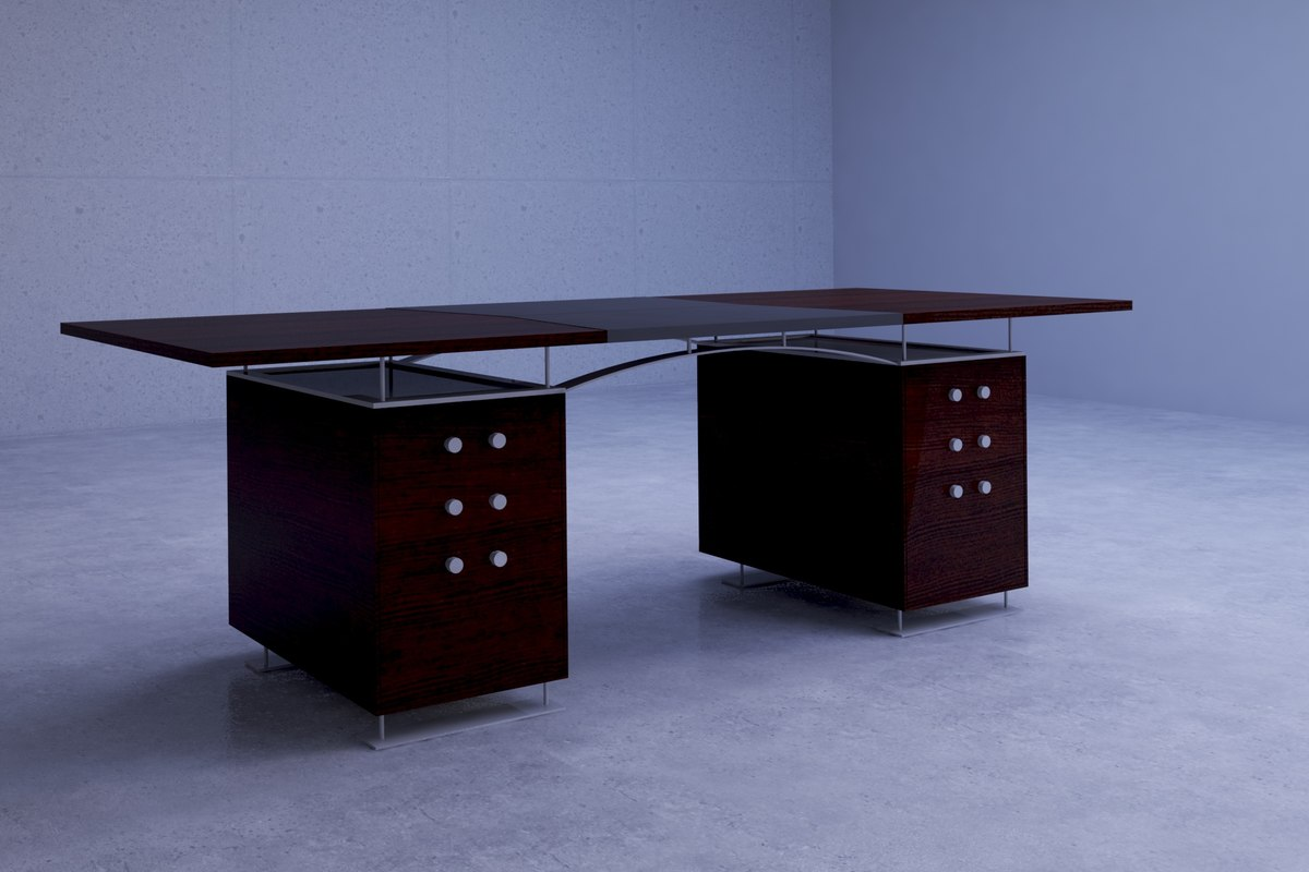 classic office desks. 3D Classic Dakota Jackson Office Desk Desks