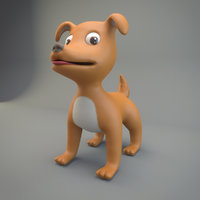 dog cartoon model