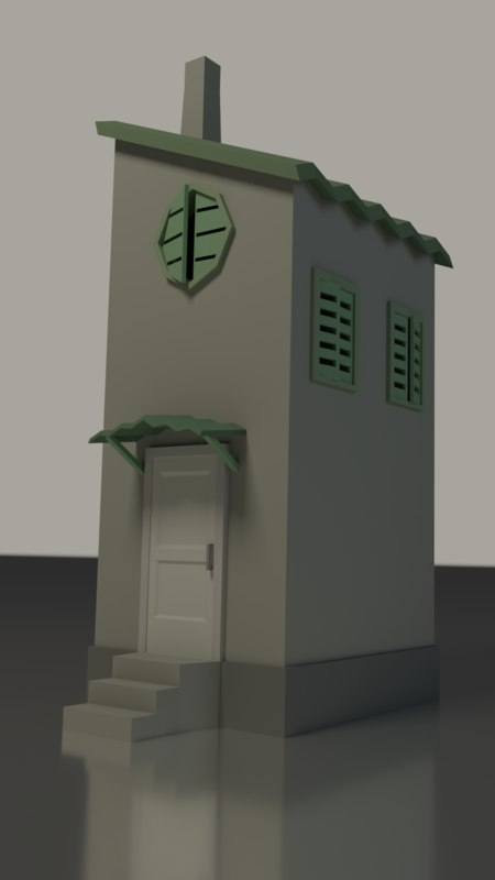 old low-poly 3D model