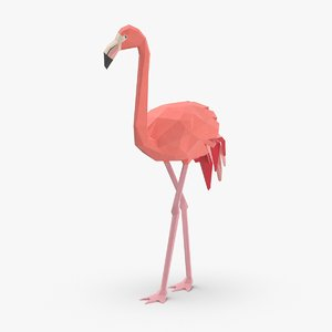 flamingo---striding 3D