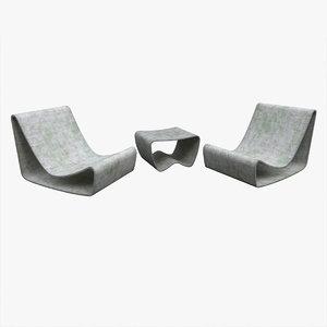 eternit loop garden chair 3D model