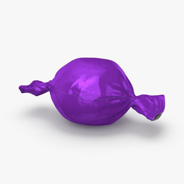 3D hard-candies---purple