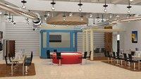 modern interior office 3D model