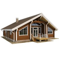 house wooden wood 3D