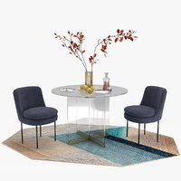 3D calliope dining table modern model
