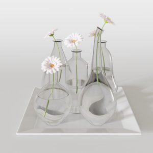decorative flower glass 3D model