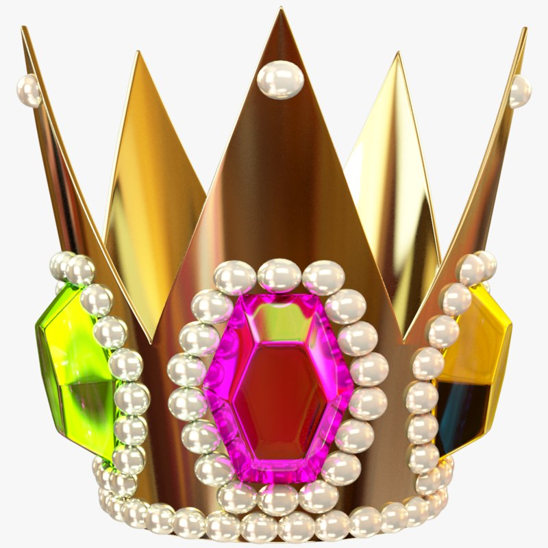cartoon king crown 3D