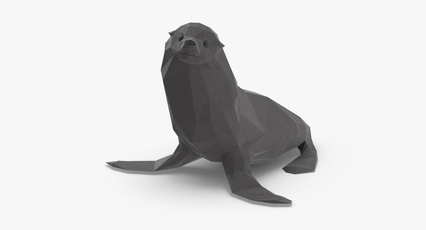 3D seal---sitting model